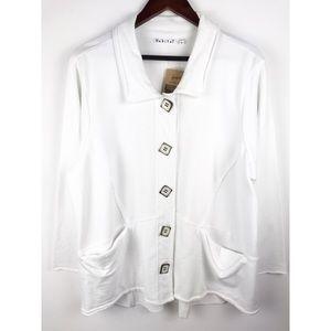 Habitat Jackets & Coats - NWT Habitat Women's Swing Button Cardigan White XL